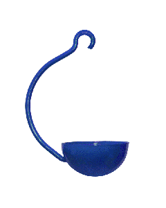 Blue Single Cup Hanging Feeder