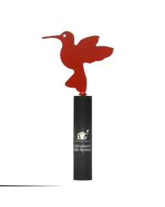 APS Hummingbird Finial Red