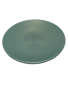 "Green 14"" Plastic Bird Bath Dish"